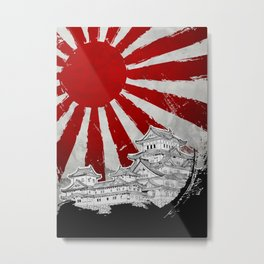Japanese Palace and Sun Metal Print