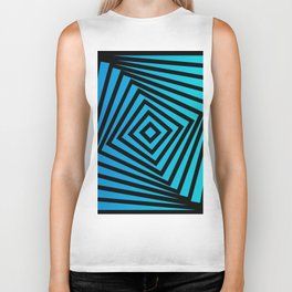 Squares twirling from the Center. Optical Illusion of Perspective bu Squares twirling Biker Tank