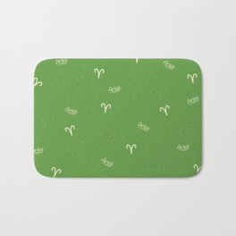 Aries Pattern - Green Bath Mat