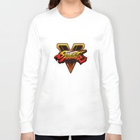 street fighter Long Sleeve T-shirts featuring street fighter 5 by Hisham Al Riyami