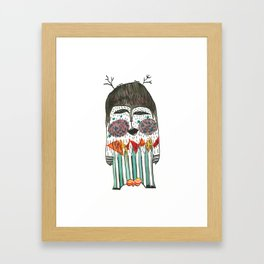 Lost and singing Yeti Framed Art Print