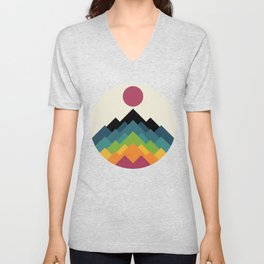 Life Is A Mountain Unisex V-Neck