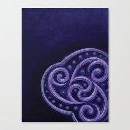 purple triscale Canvas Print