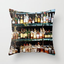BOTTLES ALL IN A ROW Throw Pillow