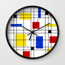 Neo-Plasticism 1 Wall Clock