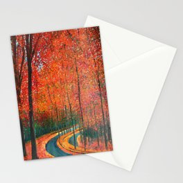 Beautiful colors of Autumn Stationery Cards