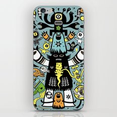 Guru Cat (blue time) iPhone & iPod Skin