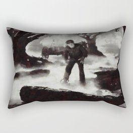 Iconic Movie Scenes - Wolf Man Rectangular Pillow