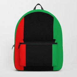 Kwanzaa Red Black Green Stripes Backpack