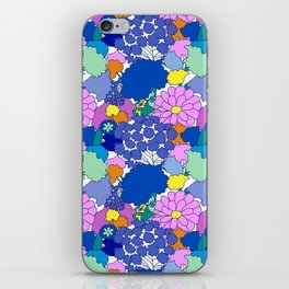 Far-Out 60's Floral in White iPhone Skin
