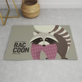 Hello Raccoon Rug