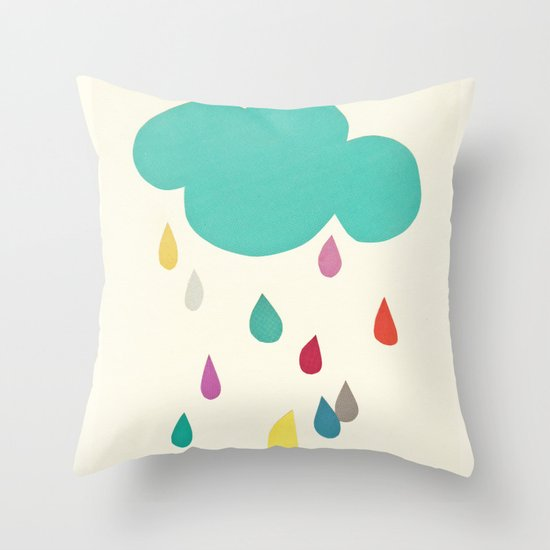 Sunshine and Showers Throw Pillow
