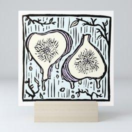 Fig Twins - linoprint Mini Art Print