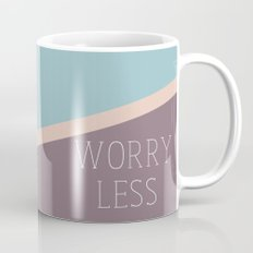 Love More & Worry Less Typography Mug
