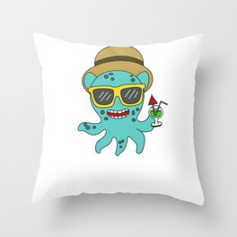 The Small But Adorable Dumbo Octopus Tshirt Design Summer time Dumbo Octopus Throw Pillow