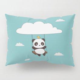 Kawaii Cute Panda In The Sky Pillow Sham