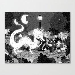 Meeting The Dragon Canvas Print