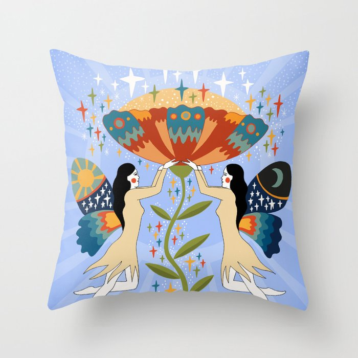 Growth and expansion Throw Pillow