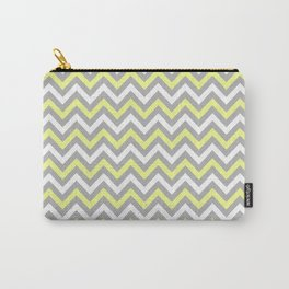 Chevron - yellow and grey Carry-All Pouch