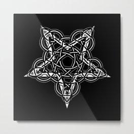 Pentagram Knot Metal Print
