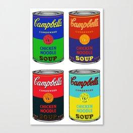 Campbell's scootaloo noodle soup 4 square  Canvas Print