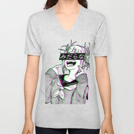 LEWD - SAD JAPANESE ANIME AESTHETIC Unisex V-Neck