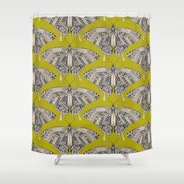 swallowtail butterfly citron basalt Shower Curtain