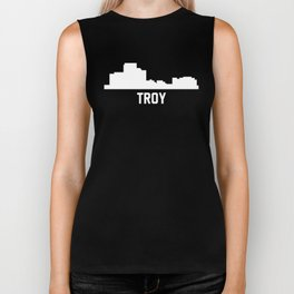 Troy Michigan Skyline Cityscape Biker Tank