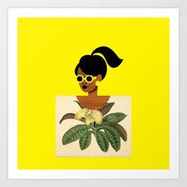 Ponytail Girl with Nature Shirt Art Print