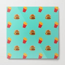 Burgers with fries Metal Print