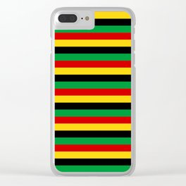 Guinea-Bissau Sao Tome and Principe flag stripes Clear iPhone Case