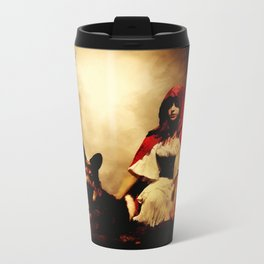 Red and Her Wolf Metal Travel Mug