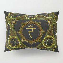 Solar Plexus Mandala Pillow Sham