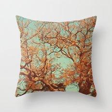 Orange. Throw Pillow