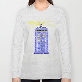 Doctor Who TARDIS Words of Wisdom Long Sleeve T-shirt