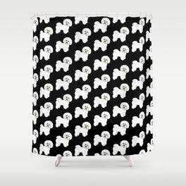 Bichon Frise Dog classic black, Christmas gift, holiday gift for dog lovers, Bichon, Bijon Shower Curtain