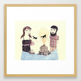 Giving Framed Art Print