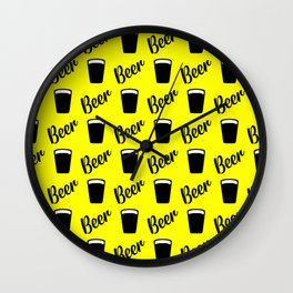 beer pattern for modern homes Wall Clock