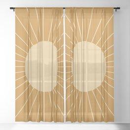 Minimal Sunrays - Golden Sheer Curtain