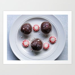 Candy Cane Cake Truffles: Take One Art Print
