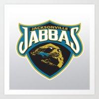 nfl Art Prints featuring Jacksonville Jabbas - NFL by Steven Klock