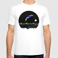 Night Swimming White Mens Fitted Tee SMALL