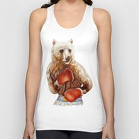 foo fighters Tank Tops featuring Bear Fighters. by beart24