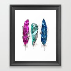 dream feathers 2 Framed Art Print