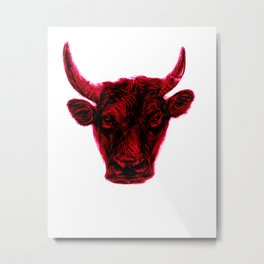 bull red  Metal Print