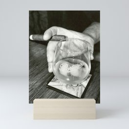 Cigar Shop Scenes No.2-Back & White Mini Art Print