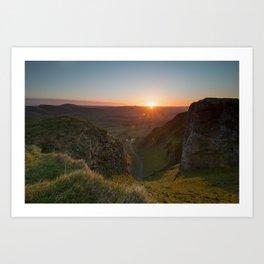 winnats pass sunrise Art Print