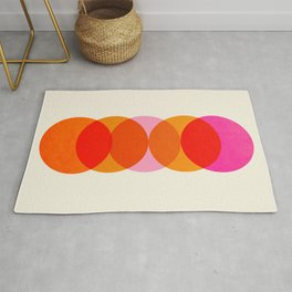 Abstraction_COLOUR_CIRCLES_001 Rug