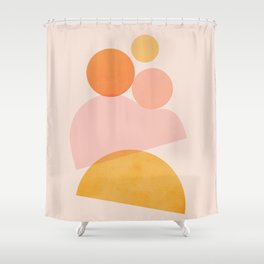 Abstraction_SHAPE_PLAYFUL_DAY_Minimalism_001 Shower Curtain