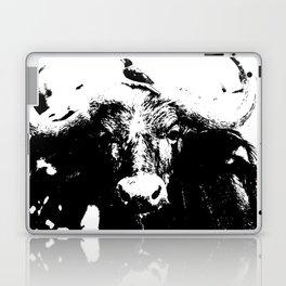 Small bird on big bull Laptop & iPad Skin